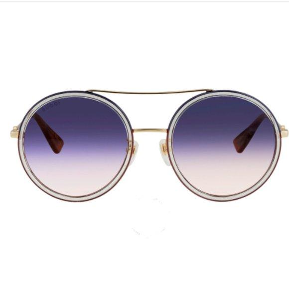 GUCCILadies Gold Aviator Sunglasses GG0061S